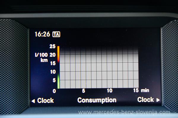 Zaslon po novem kaže tudi porabo goriva