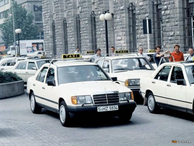 W124 se je pogosto uporabljal kot taksi, ponekod se še danes.